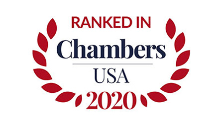 Ranked in Chambers USA 2020